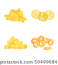 Vector illustration of food and crunchy symbol. Collection of food and flavor stock vector 50499684