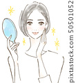 審美高級女人美麗閃亮美麗的皮膚健康 50501052