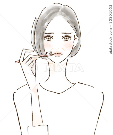 女人刷牙高級麻煩麻煩麻煩 50501053