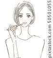 립스틱을 쓰면 여성 시니어 패션 50501055