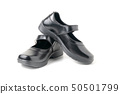 New leather girl student shoes isolated 50501799