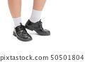 Asian Thai boy school student wear a black leather 50501804