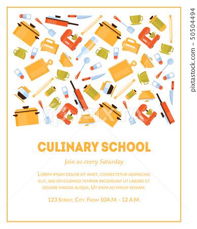 Culinary School Banner Template, Invitation... - Stock ...