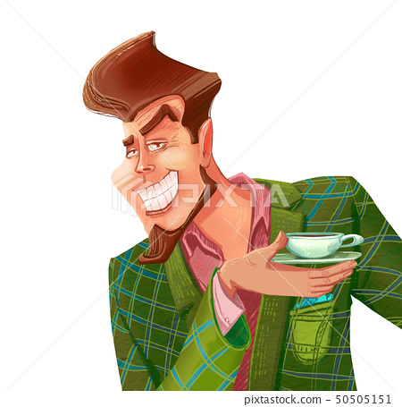 Stylish man holding a cup of coffee 50505151