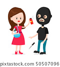 Woman protected herself from robber.  50507096