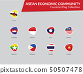 AEC Countries Flags icon 50507478