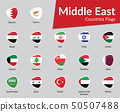 Middle East Countries Flags icon 50507488