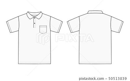 Short Sleeve Polo Shirt Mockup Template Front Stock