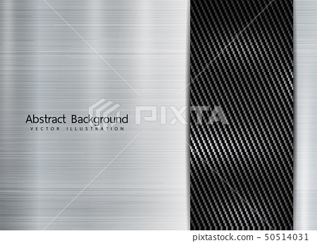 abstract metallic frame on carbon kevlar texture 50514031