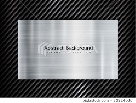 abstract metallic frame on carbon kevlar texture 50514036