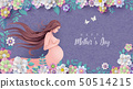 Happy Mother's day greeting card. 50514215