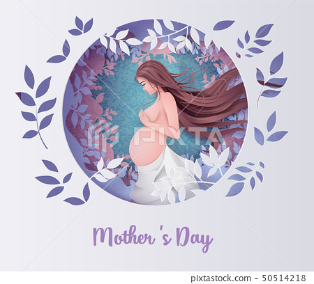 Happy Mother's day greeting card. 50514218