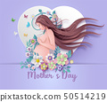 Happy Mother's day greeting card. 50514219