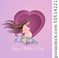 Happy Mother's day greeting card. 50514221