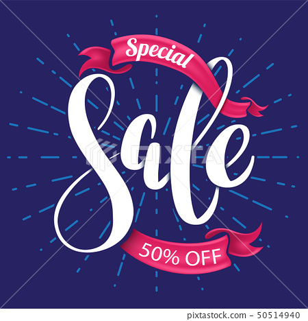 Special sale lettering banner 50514940