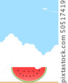 Watermelon and blue sky 50517419