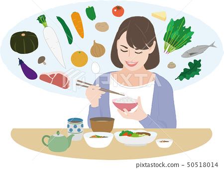 吃8的女性(營養均衡) 50518014