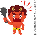 Akaoni threatens with a gold stick 50518637