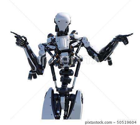 人形機器人perming3DCG插圖素材 50519604