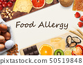 Set of allergic food with black text 50519848