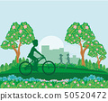 man on a bike in the park 50520472