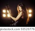 woman, guitarist, guitar 50520776