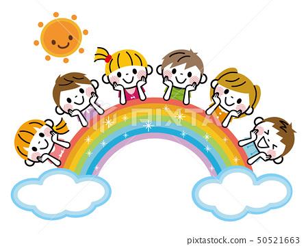 彩虹和孩子們 50521663