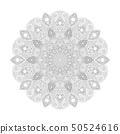 Mandala pattern. Abstract floral vector art. Flower in indian motive. Luxury lace decoration. Round 50524616