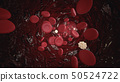 White And Red Blood Cells Flowing Through Blood 50524722
