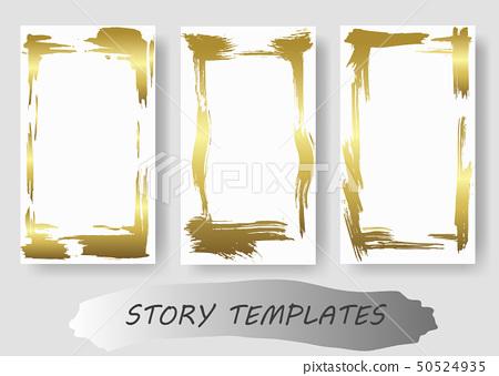 Set Of Dry Brush Frames Hand Drawn Artistic Stock Illustration 50524935 Pixta