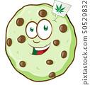 cartoon mascot cookie with marijuana flavor 50529832
