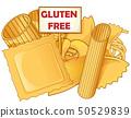 italian Pasta with gluten free signboard., vetcor 50529839