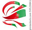 portugal flag set isolated on white background 50529841