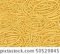 Tangled spaghetti .Seamless waves hand drawn 50529845