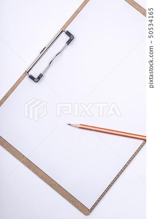 클립보드,A4용지,연필,백지,문구 50534165