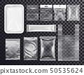 Realistic plastic pocket bag mockup, zipped bag 50535624