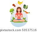 Healthy food, vegan, vegetarian and yoga 50537516