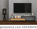 3D rendering of interior living room with Smart TV 50540649