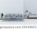 interior living room wall concrete with sofa 50540655