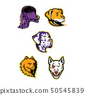 Dog Heads Mascot Collection 50545839