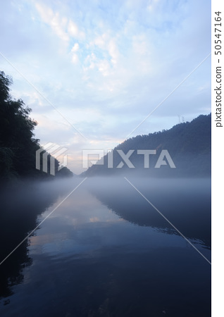 River landscape at sunset 50547164