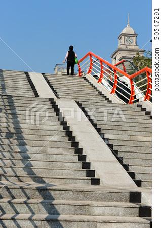 Stairs to footbridge 50547291