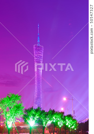 Night scene of television tower 50547327