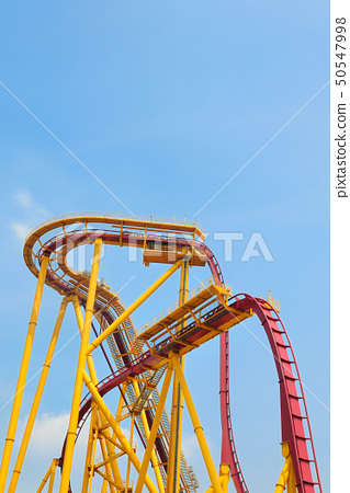 Roller coaster in amusement park 50547998