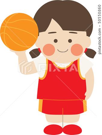 여성 캐릭터 농구 50550860