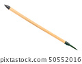 bamboo paint brush with green colored tip isolated 50552016