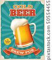 Vector Cold Beer poster with high detailed beer mug illustration 50554455