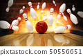 Bowling strike hit with fire explosion 50556651