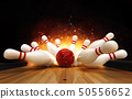 Bowling strike hit with fire explosion 50556652