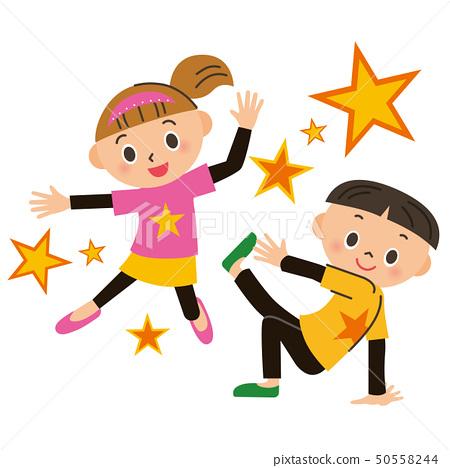 춤을 추는 아이들 50558244